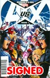 Avengers vs X-Men #1 Cover R DF Signed By Stan Lee