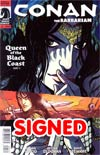 Conan The Barbarian Vol 3 #1 Incentive Becky Cloonan Variant Cover Signed By Brian Wood And Becky Cloonan
