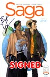 Saga #1 Cover C 1st Ptg Signed By Brian K Vaughan