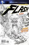 Flash Vol 4 #7 Incentive Francis Manapul Sketch Cover