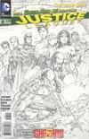 Justice League Vol 2 #8 Incentive Jim Lee Sketch Cover