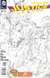 Justice League Vol 2 #9 Incentive Jim Lee Sketch Cover
