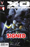 X-O Manowar Vol 3 #1 Cover F 1st Ptg Regular Esad Ribic Cover Signed By Rob Venditti