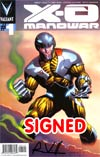 X-O Manowar Vol 3 #1 Cover G Variant Cary Nord Pullbox Cover Signed By Rob Venditti