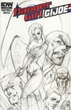 Danger Girl GI Joe #1 Cover C Incentive J Scott Campbell Sketch Cover