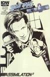 Star Trek The Next Generation Doctor Who Assimilation2 #4 Incentive Francesco Francavilla Sketch Cover