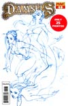 Damsels #1 DF Exclusive J Scott Campbell Ocean Blue Ultra-Limited Cover (Only 25 printed!)