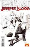 Jennifer Blood First Blood #1 Incentive Mike Mayhew Black & White Cover