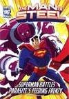 DC Super Heroes Man Of Steel Superman Battles Parasites Feeding Frenzy Young Readers Novel TP
