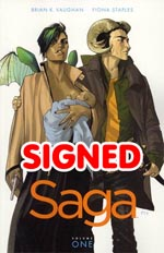 Saga Vol 1 TP Signed By Brian K Vaughan And Fiona Staples