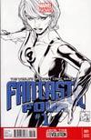 Fantastic Four Vol 4 #1 Incentive Joe Quesada Sketch Cover