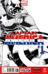 Captain America Vol 7 #1 Cover F Incentive Joe Quesada Sketch Cover
