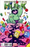 Indestructible Hulk #1 Variant Skottie Young Baby Cover