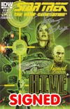 Star Trek The Next Generation Hive #1 Incentive Signed By Brannon Braga