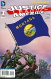 Justice League Of America Vol 3 #1 Variant Montana Flag Cover