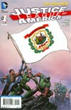 Justice League Of America Vol 3 #1 Variant West Virginia Flag Cover