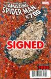 Amazing Spider-Man Vol 2 #700 DF John Romita Sr Gold Signature Series Signed By John Romita Sr