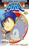 Mega Man Vol 2 #24 Variant Team Mega Man Cover (Worlds Collide Part 1)
