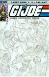 GI Joe A Real American Hero #187 Incentive Larry Hama Sketch Variant Cover