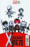Uncanny X-Men Vol 3 #1 Variant Skottie Young Baby Cover