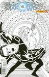 Bionic Man vs Bionic Woman #2 Incentive Sean Chen Black & White Cover