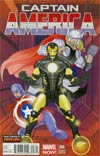 Captain America Vol 7 #6 Cover B Incentive Many Armors Of Iron Man Variant Cover