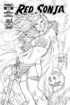 Red Sonja Vol 5 #1 Cover K Midtown Exclusive Nei Ruffino Black & White Ultra-Limited Cover