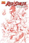 Red Sonja Vol 4 #75 High-End Mel Rubi Blood Red Ultra-Limited Cover (ONLY 25 COPIES IN EXISTENCE!)
