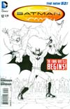 """Batman Incorporated Vol 2 #12 Cover E Incentive Chris Burnham Sketch Cover  <font color=""""#FF0000"""" style=""""font-weight:BOLD"""">(CLEARANCE)</FONT>"""