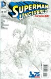 Superman Unchained #2 Cover L Incentive Jim Lee Sketch Cover