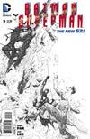 Batman Superman #2 Cover E Incentive Jae Lee Sketch Cover
