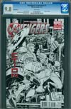 Avengers X-Sanction #1 Incentive Joe Quesada Sketch Cover CGC 9.8