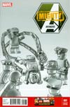 Mighty Avengers Vol 2 #1 Cover G Incentive Leonel Castellani Lego Sketch Variant Cover (Infinity Tie-In)