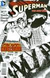 Superman Vol 4 #24 Cover B Incentive Eddy Barrows Sketch Cover