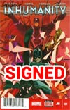 Inhumanity #1 Cover D DF Signed By Matt Fraction