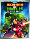 Marvels Iron Man And Hulk Heroes United Blu-ray Combo DVD