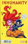 Inhumanity #1 Cover B Variant Skottie Young Baby Cover