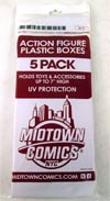 "Midtown Comics Action Figure Acrylic Boxes 5-Pack Medium  <font color=""#FF0000"" style=""font-weight:BOLD"">(CLEARANCE)</FONT>"