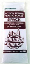"Midtown Comics Action Figure Acrylic Boxes 5-Pack Large  <font color=""#FF0000"" style=""font-weight:BOLD"">(CLEARANCE)</FONT>"