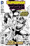 Superman Wonder Woman #3 Cover E Incentive Tony S Daniel Sketch Cover