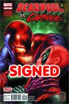 Deadpool vs Carnage #1 Cover C DF Signed By Cullen Bunn