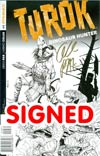 Turok Dinosaur Hunter Vol 2 #1 Cover M Incentive Bart Sears Line Art Cover Gold Signature Signed By Greg Pak