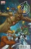 Avengers Vol 5 #32 Cover B Incentive Guardians Of The Galaxy Variant Cover (Original Sin Tie-In)