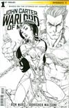 John Carter Warlord Of Mars Vol 2 #1 Cover O Incentive J Scott Campbell Black & White Cover