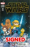 Star Wars Vol 4 #1 Cover Z-I DF Skottie Young Baby Variant Cover Gold Signature Series Signed By Skottie Young