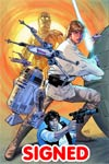 Star Wars Vol 4 #1 Cover Z-O DF Exclusive Greg Land Connecting Color Variant Cover Lightsaber Silver Signed Edition By Greg Land