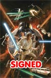 Star Wars Vol 4 #1 Cover Z-T DF Incentive Alex Ross Color Variant Cover Ultra-Limited Lightsaber Silver Signature Series Signed By Alex Ross