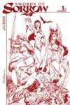 Swords Of Sorrow #1 Cover K Incentive J Scott Campbell Blood Red Cover