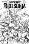 Legenderry Red Sonja #2 Cover B Incentive Sergio Fernandez Davila Black & White Cover