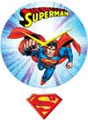 DC Comics 10-Inch Pendulum Wall Clock - Superman